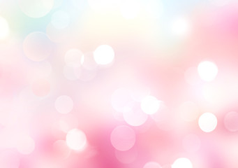 Spring pink blurred abstract glow bokeh background.