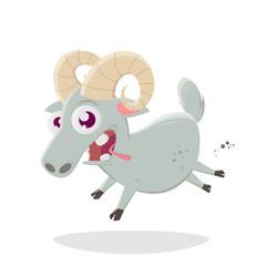 funny cartoon ram vector illustration