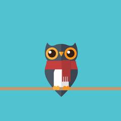 Cute festive owl