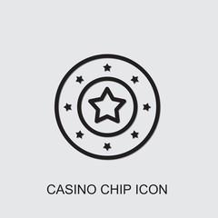 Casino chip icon . Editable outline Casino chip icon from casino. Trendy Casino chip icon for web and mobile.