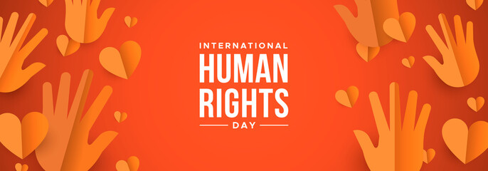 Human Rights Day web banner for social equality