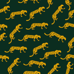 Seamless fashion pattern leopard