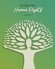 International Human Rights card for people help