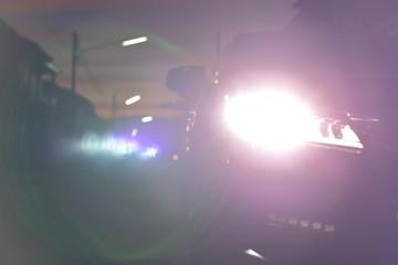 headlight vehicle car Wall mural
