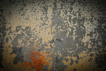old dark concrete wall halloween background, abstract dirty grunge cement texture