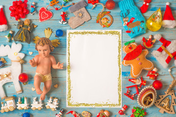 Christmas Baby Jesus, blank frame background cards