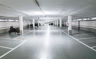 Dark spooky underground parking