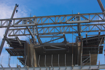 Steel structures in construction sites,Steel Structure of Tollway Expressway