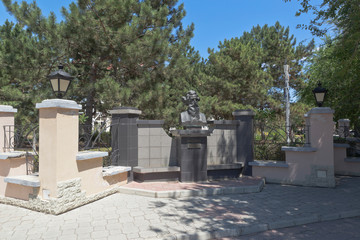Monument to Vladimir Ivanovich Dal at the intersection of Kirov and Shevchenko streets in the city of Evpatoria, Crimea, Russia