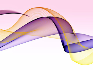 Wave abstract images, color design, abstract colored wave