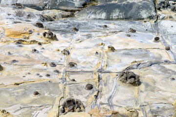 stone formation on the seaside