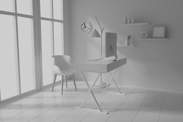 interior room work 3d render