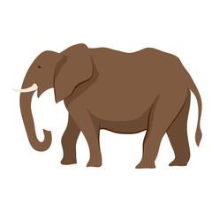 Stylized illustration of elephant.