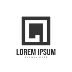 Obraz Initial letter logo template. Minimalist letter logo template - fototapety do salonu