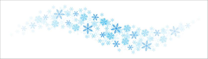 Blaue Schneeflocken Schwung