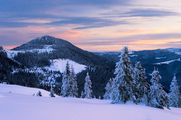 Petros mount in Carpathians, Ukraine