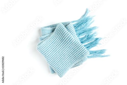 5e24c200f9ff9 Light blue warm scarf on a white background