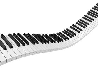 Piano Keys Isolated