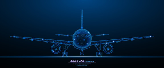 Fototapeta Commercial airliner concept