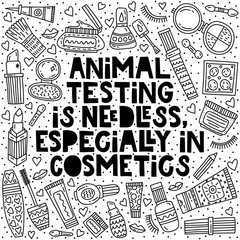 Animal testing is needless, especially in cosmetics