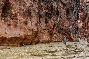 Überflutete Schlucht in Petra