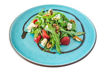 vegetarian salad in a plate for the whole frame