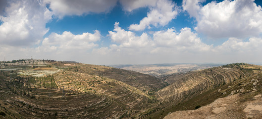 Hills along Way of the Patriarchs. Israel