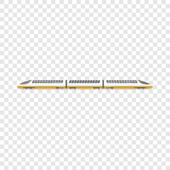 High speed train icon. Cartoon of high speed train vector icon for web design