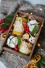 Gift for man / New Year's gift in a wooden box