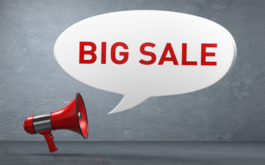 3D Illustration Megaphone Big Sale