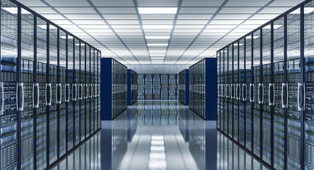 3d image of data center