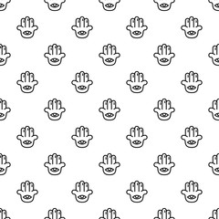 Eye palm pattern seamless vector repeat for any web design
