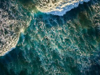 Bright splashing waves of sea