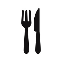 Fork and knife icon vector. Restaurant symbol.