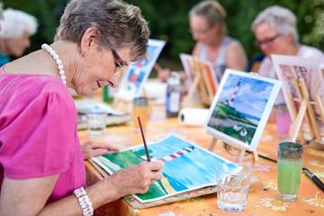Art therapy for senior ladies.