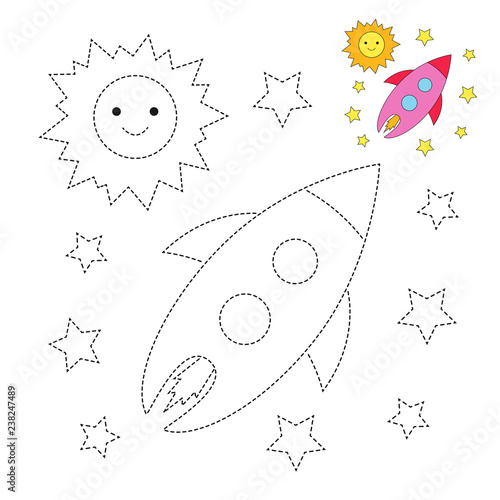 Drawing Worksheet For Preschool Kids With Easy Gaming Level Of