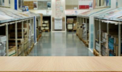 Shop for floor tiles. Blurred image of Tiles for floors, walls, bathrooms.
