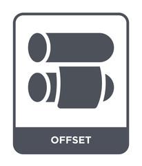 offset icon vector