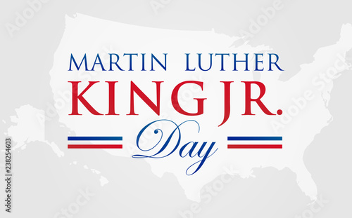 Mlk Martin Luther King Jr Day Vector Illustration Background With