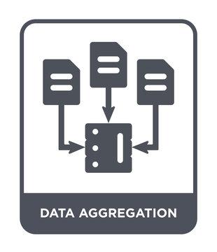 data aggregation icon vector