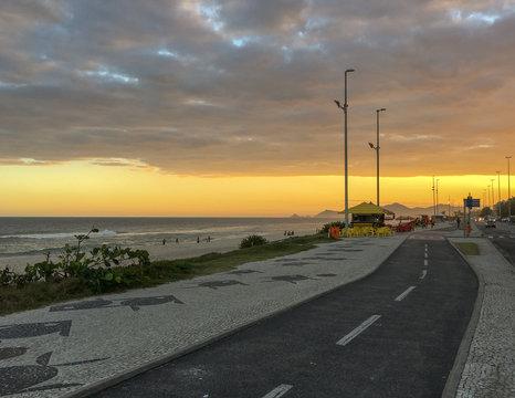 rio de janeiro beach sunset