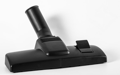 Black nozzle for vacuum cleaner on a white background