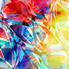 Design super abstract brightly multicolored watercolor wavy