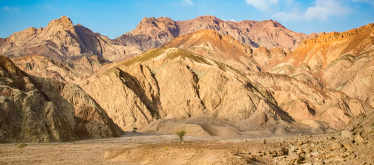 The beauty of the mountains of the Sinai Peninsula in Egypt