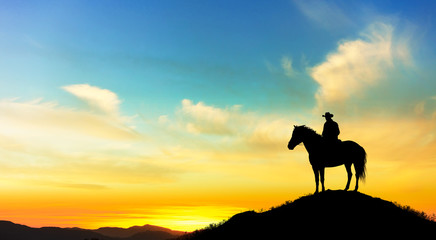 cowboy on the mountain