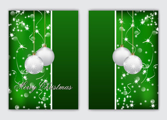 Merry Christmas and a Happy New Year. Christmas cards. Simple design.