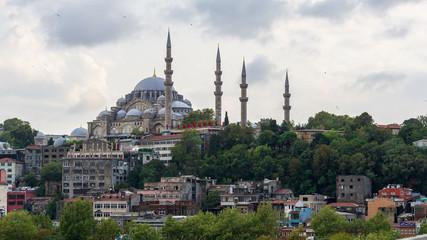 Suleymaniye mosque seen from the train station, Istanbul, Turkey