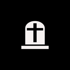 grave vector icon. flat grave design. grave illustration for graphic