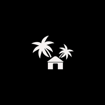 hut vector icon. flat hut design. hut illustration for graphic