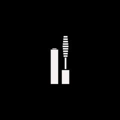 Mascara brush vector icon. flat Mascara brush design. Mascara brush illustration for graphic